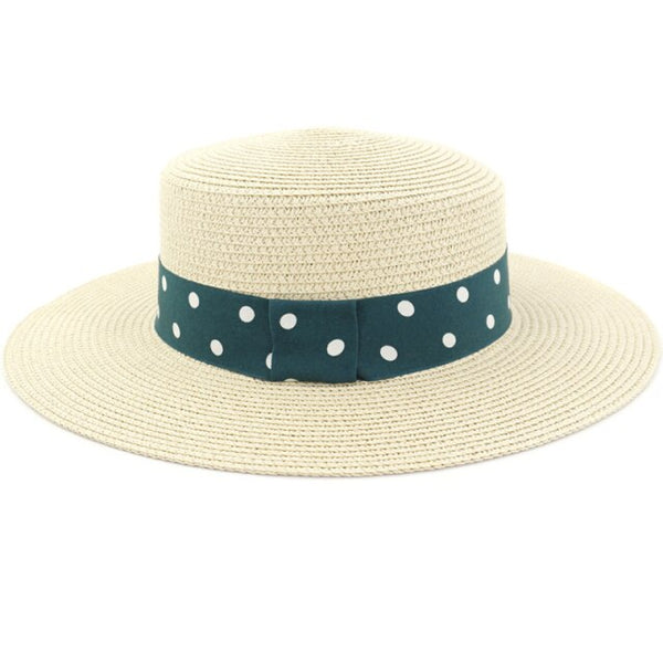 30s Normandy Retro Boater Hat