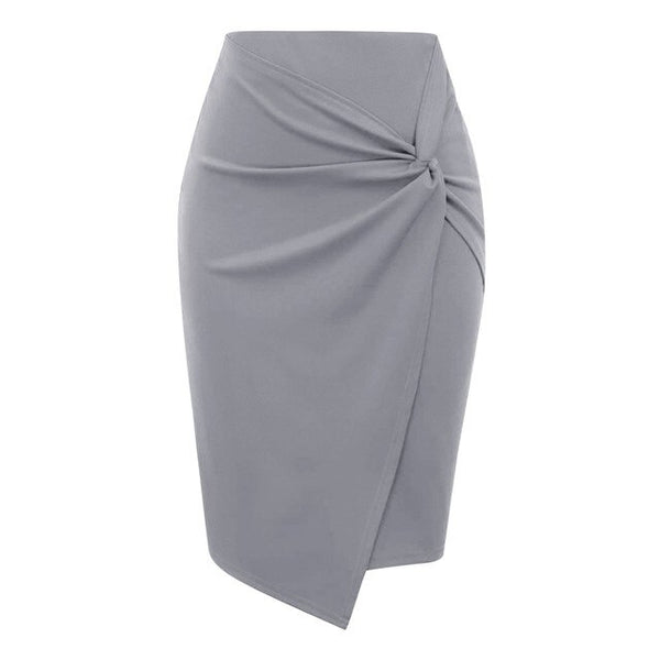 50s Classic Ruched Pencil Skirt