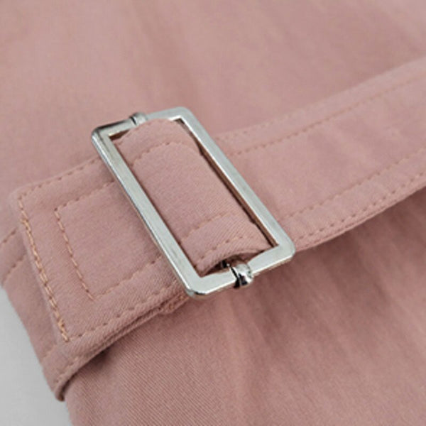 60s Pink Retro Trench Coat - Ma Penderie Vintage