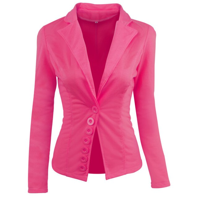 50s Classic Pink Pin Up Blazer Jacket - Ma Penderie Vintage