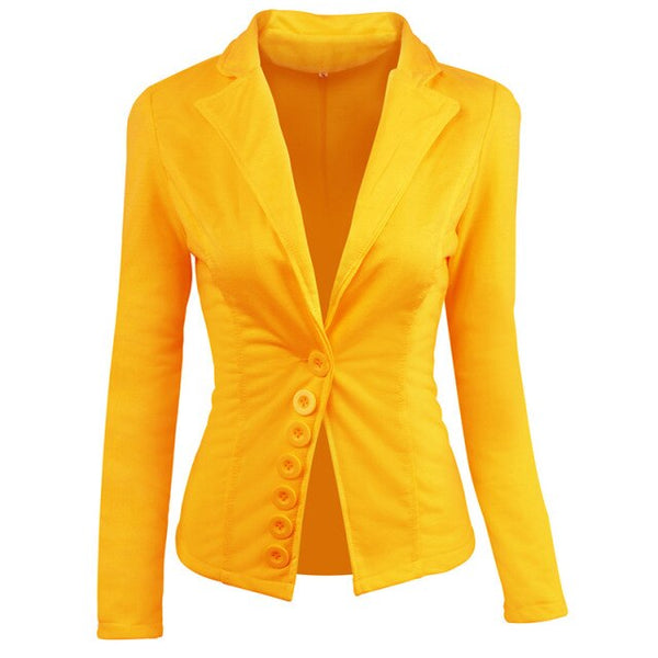 50s Classic Pin Up Blazer Jacket Yellow - Ma Penderie Vintage