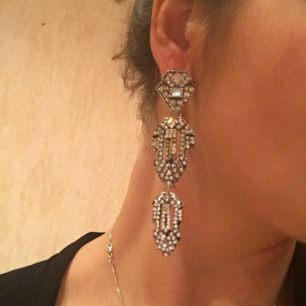 20s Art Deco Earrings For The Evening