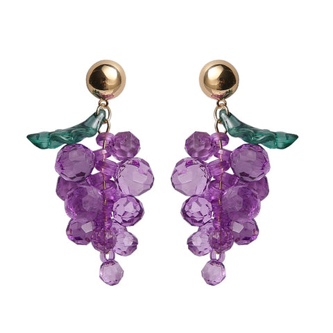 40s Retro Grapes Earrings - Ma Penderie Vintage