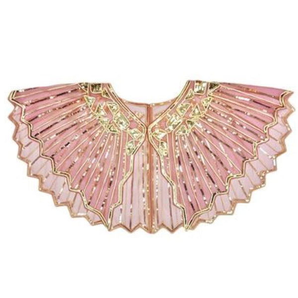 20s Art Deco Gatsby Pink Shawl - Ma Penderie Vintage