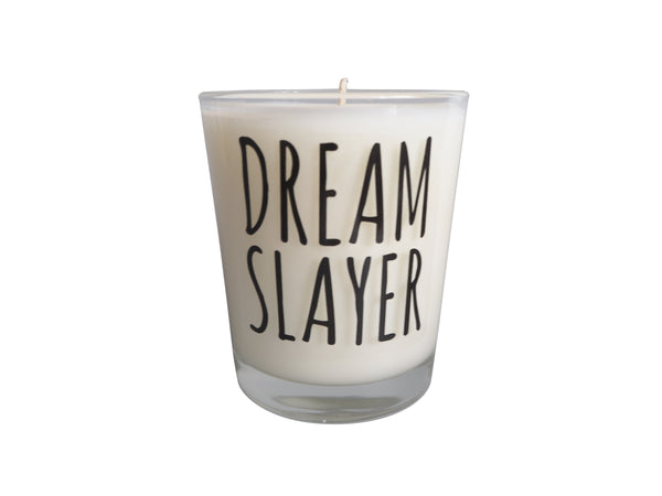 Dream Slayer Slogan Candle