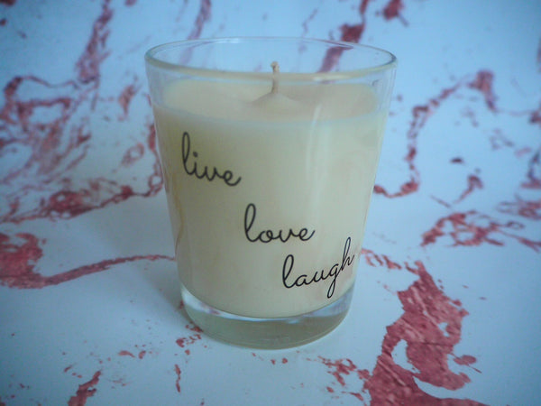 Live Love Laugh Quote Candle