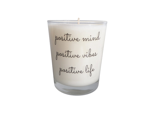 Positive Mind, Vibes and Life Quote Candle