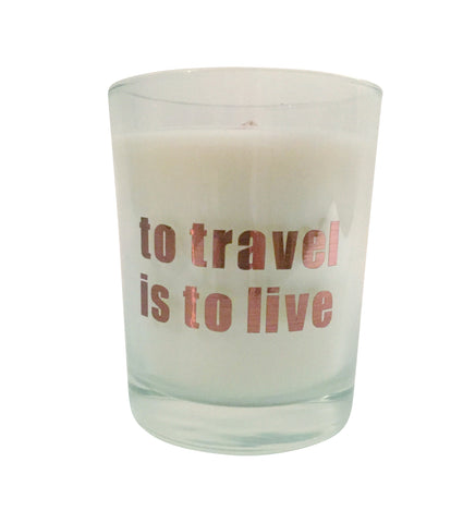 To Travel is to Live Candle