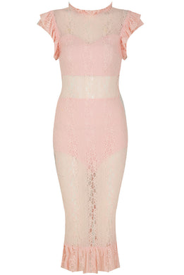Lace Lined Pencil Dress