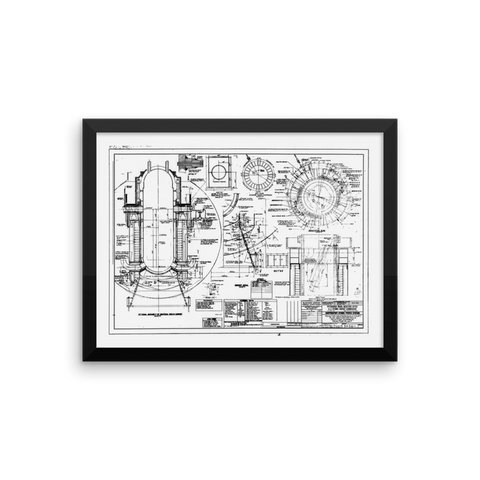 Shippingport Reactor Neutron Shield - 16x12 inch Poster