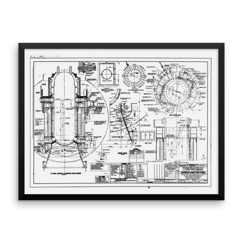 Shippingport Reactor Neutron Shield - 24x18 inch Poster