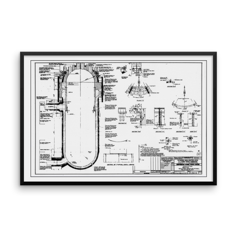 Shippingport Reactor Pressure Vessel - 36x24 inch Poster