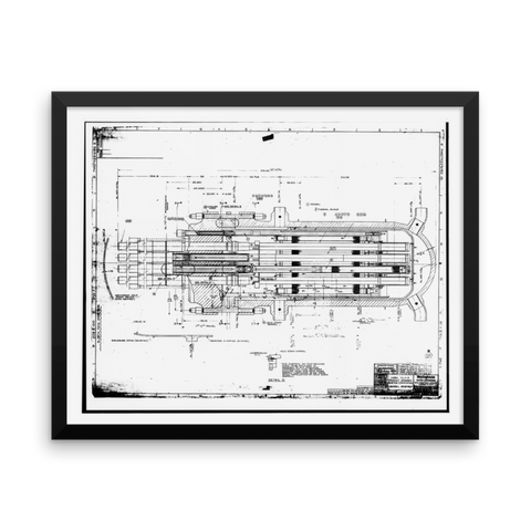 Shippingport Reactor Components - 20x16 inches Poster