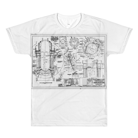 Shippingport Reactor Neutron Shield - All-Over Printed T-Shirt