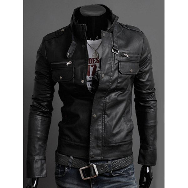 Men's Jacket - Black Leather Jacket - Men's Clothing Store - Streetstyle - Streetwear - Mens Fashion