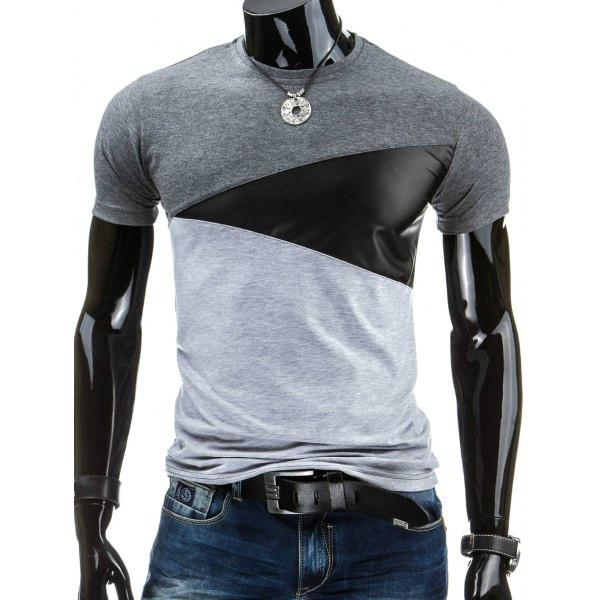 Men's color block cotton t-shirt