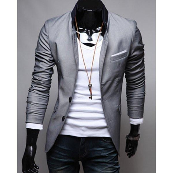 Men's Grey Blazer TrendzNow KC