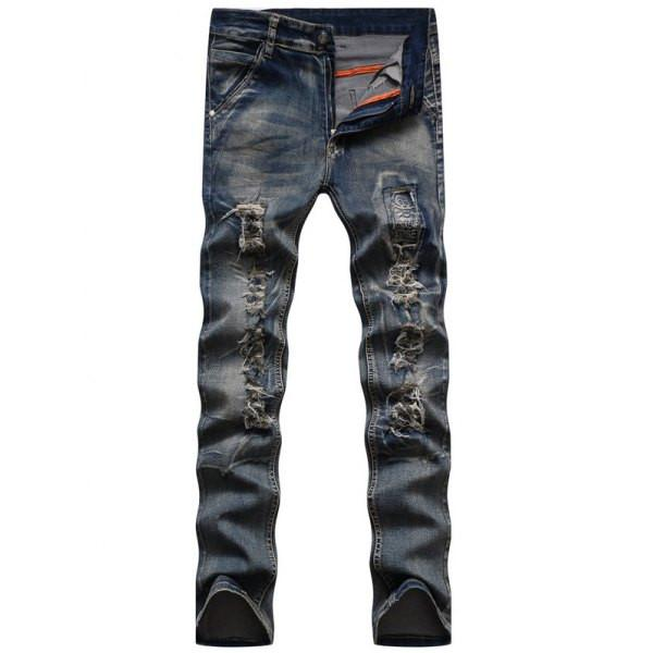 Men's Skinny Fit Ripped Jeans, TrendzNow | Women's & Men's Clothing - TrendzNow Clothing Store