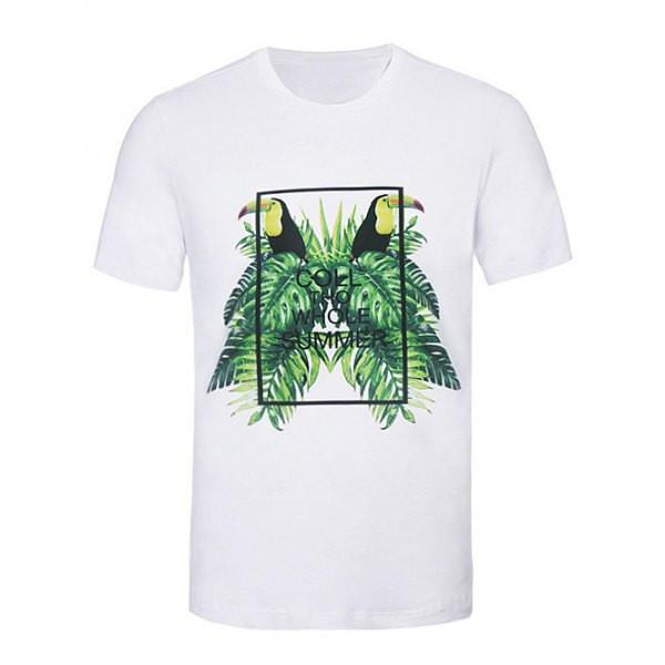 Men's Graphic T-Shirt White - Casual Graphic Tee