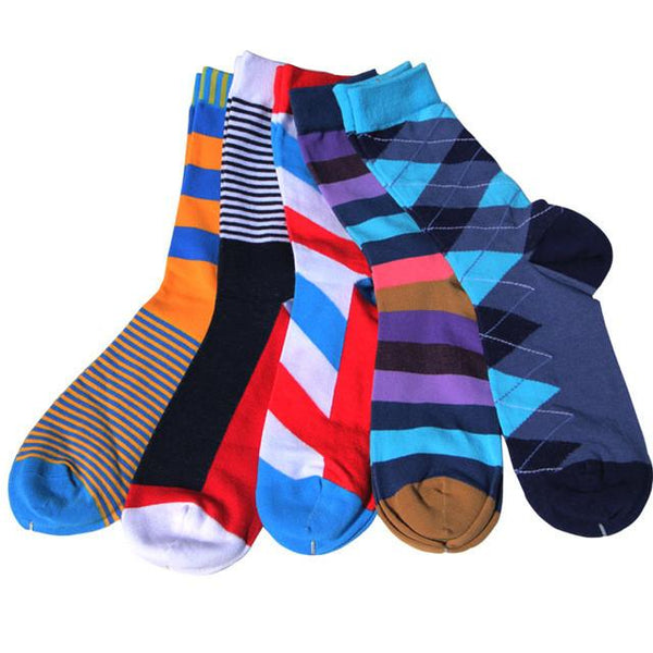 Men's Colorful Pattern Dress Socks Fun Socks