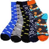 Men's Colorful Pattern Dress Socks Multi Color
