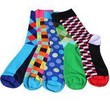 Men's  Bright Colorful Pattern Dress Socks
