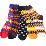 Men's Colorful Pattern Dress Socks Tribal