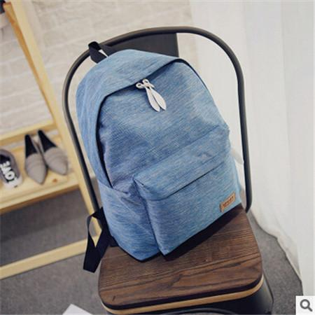 Women's Travel Canvas Backpack Blue