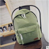 Women's Travel Canvas Backpack Green