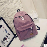 Women's Travel Canvas Backpack Pink