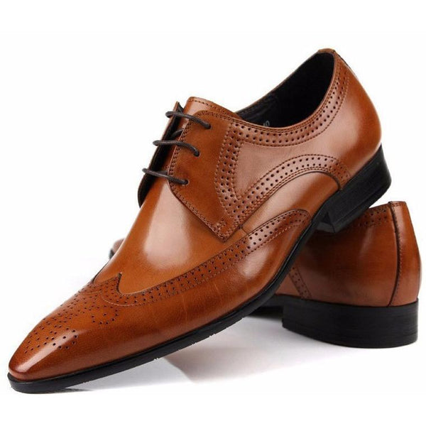 Men's Oxford Leather Dress Shoe Brown