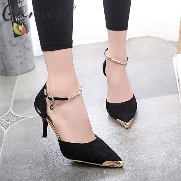 Suede Leather High Heel Pumps