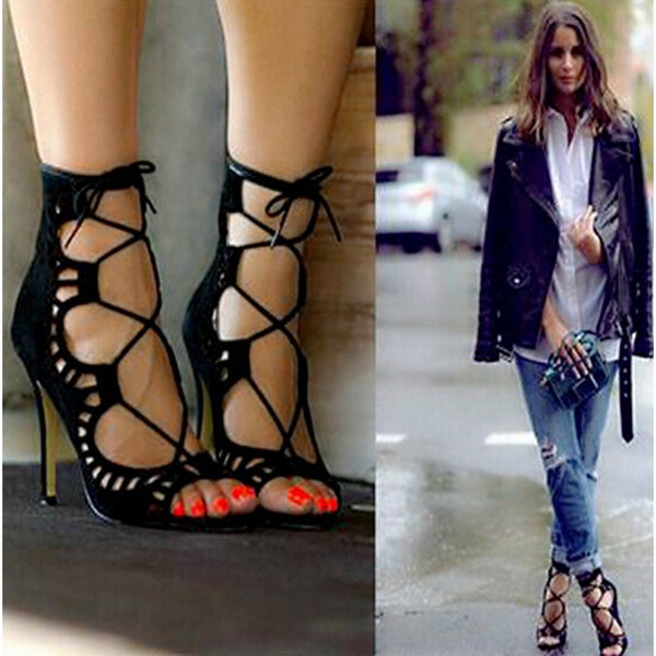 Women's Lace-Up Heels, TrendzNow | Women's & Men's Clothing - TrendzNow Clothing Store