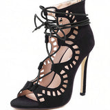 2017 Fashion Women's Lace-Up Heels - TrendzNow Clothing Store