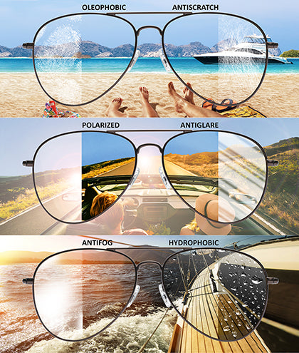 Aviator Chocolate Gafas de Sol