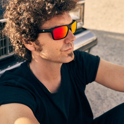 Square Matte Black Red by HYPE Gafas de Sol