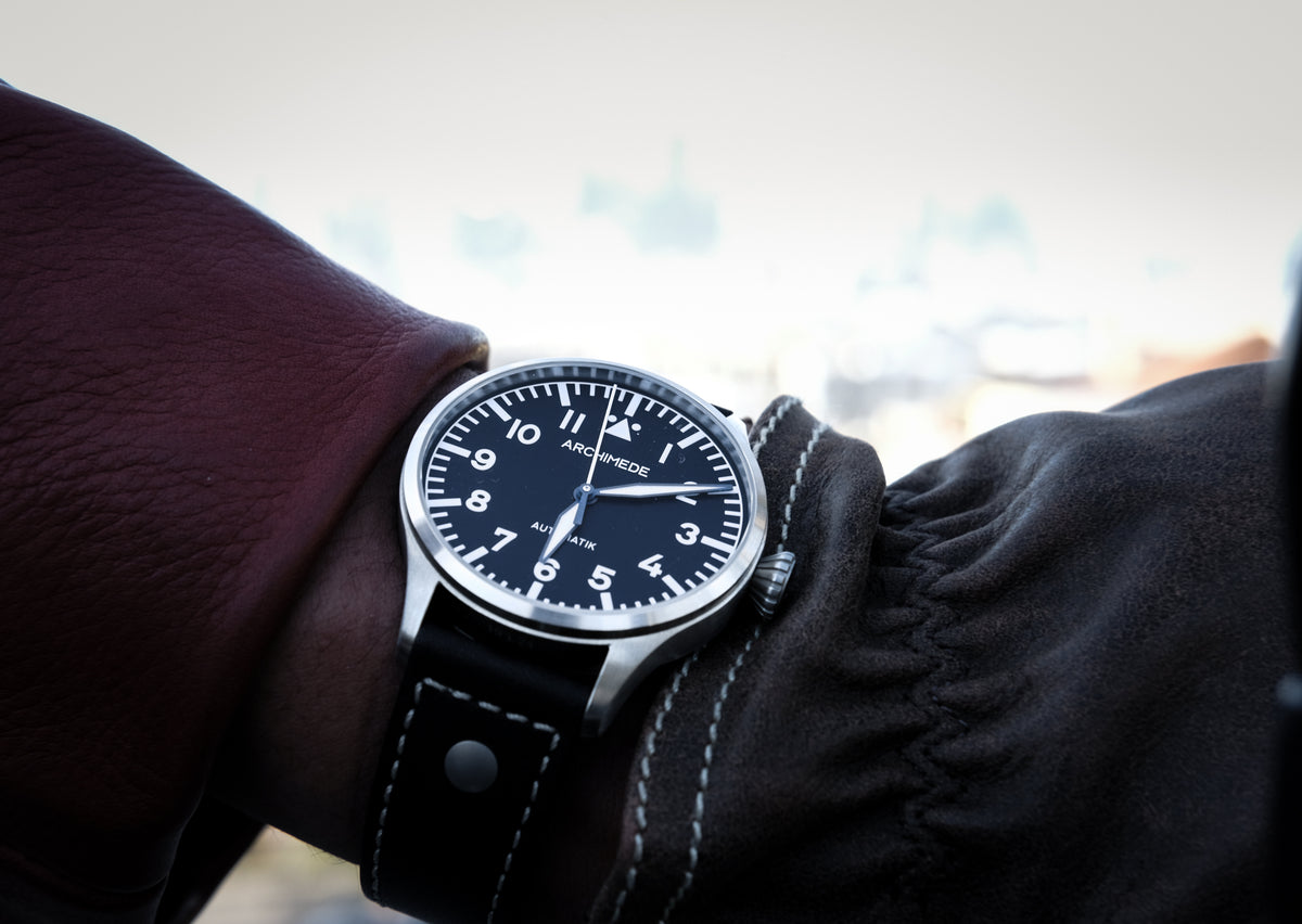 Riding Gear: The Archimede Pilot 42 watch