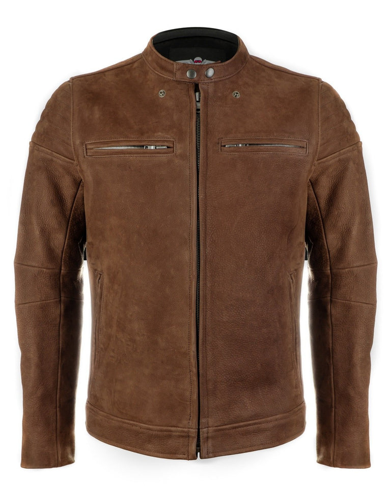 The Pilot Racer Jacket in Hazel Nubuck