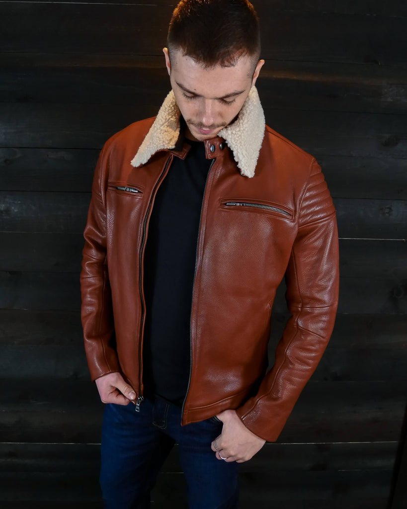 vktre moto co leather motorcycle jacket