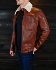 vktre moto co leather motorcycle jacket pilot racer