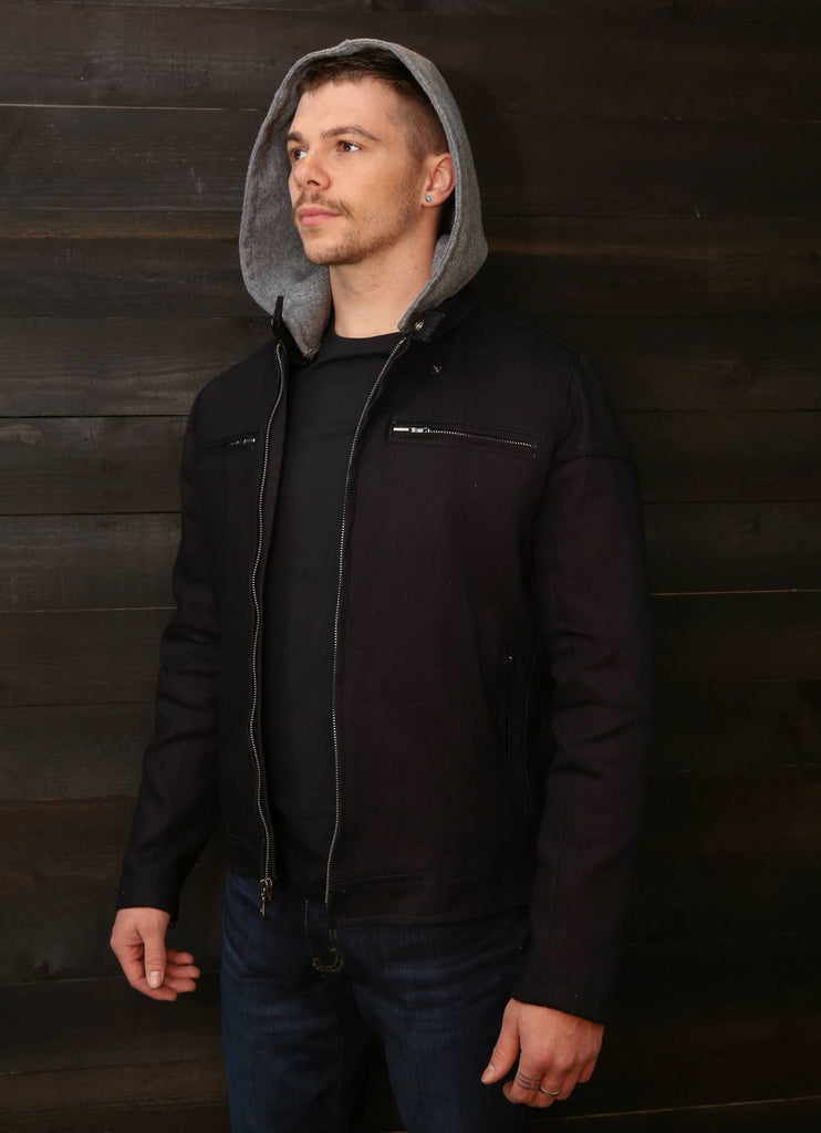 The Pilot Racer Dyneema Denim with Detachable Gray Hoodie