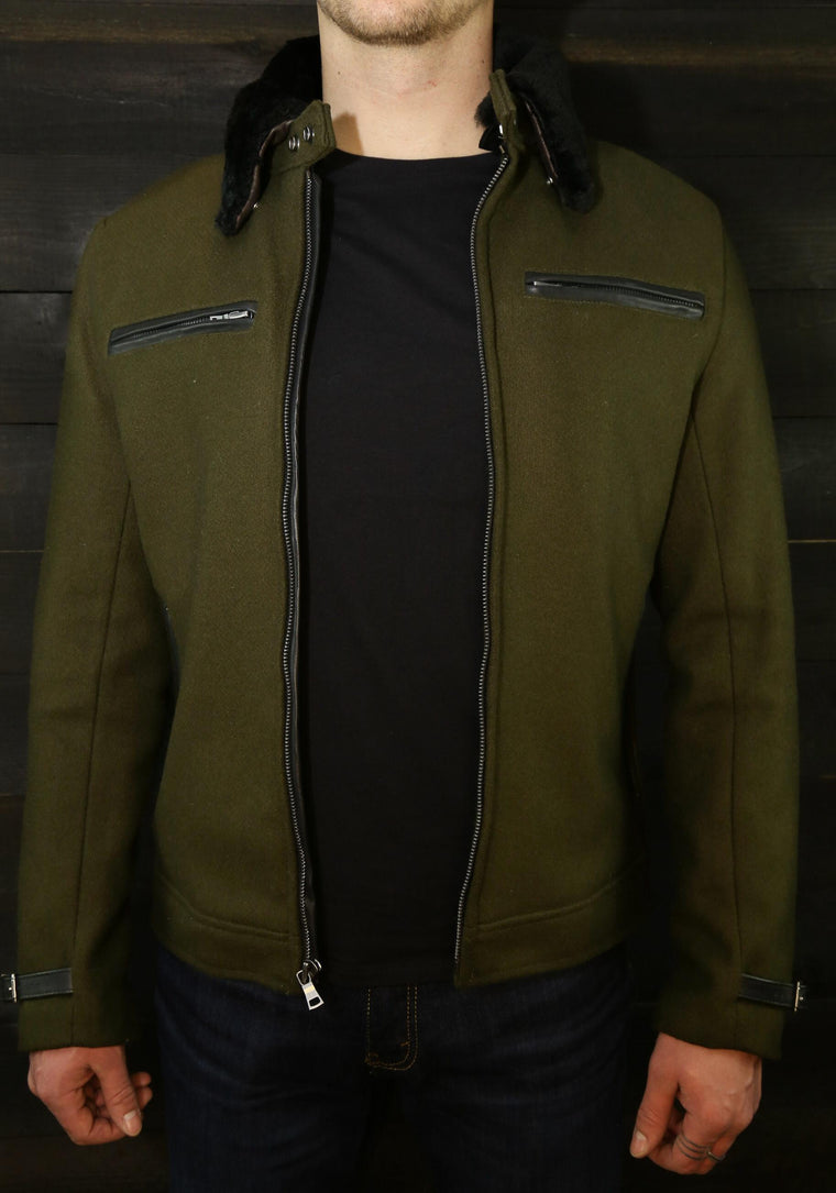 vktre moto co. pilot racer jacket cafe racer