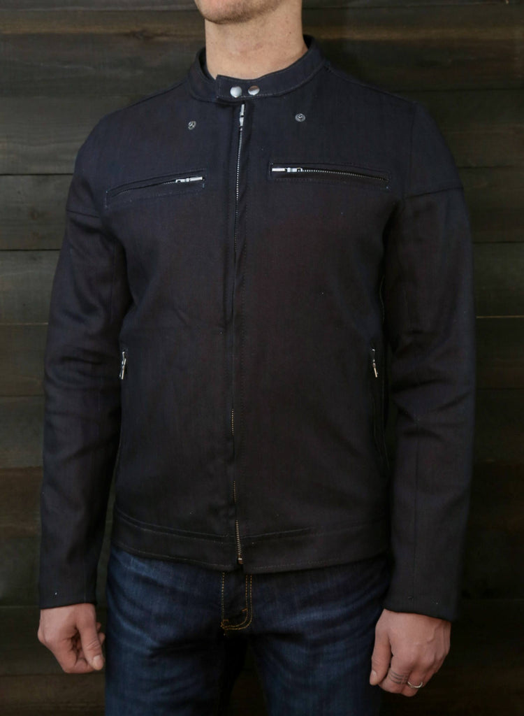 The Pilot Racer Jacket In Dyneema Denim