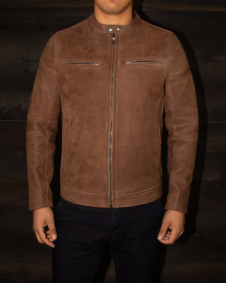 leather cafe racer jacket details vktre