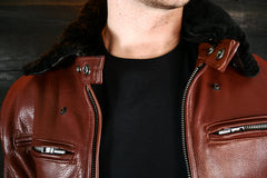 black shearling collar motorcycle jacket vktre moto co.