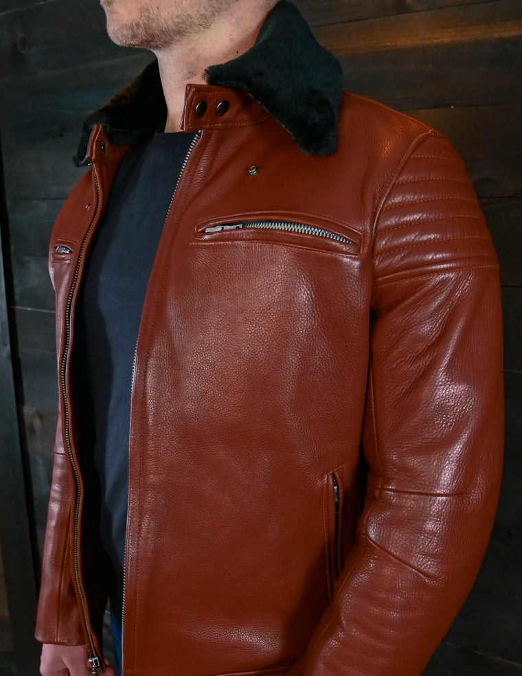 vktre moto co. leather jacket G2 zippers made in USA