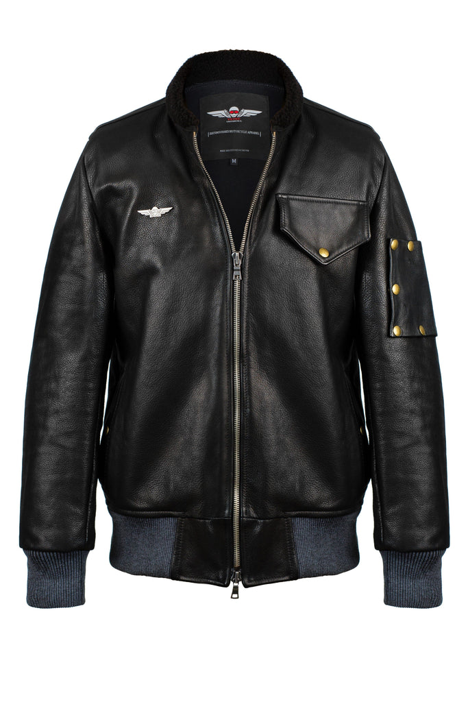 Vktre Moto Co. Aviator jacket full grain leather
