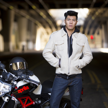 THE BOMBER MOTORCYCLE JACKET STYLISH MENS GEAR