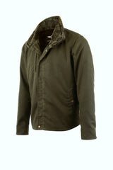 THE RANGER WAXED MOTORCYCLE JACKET IN MILITARY GREEN