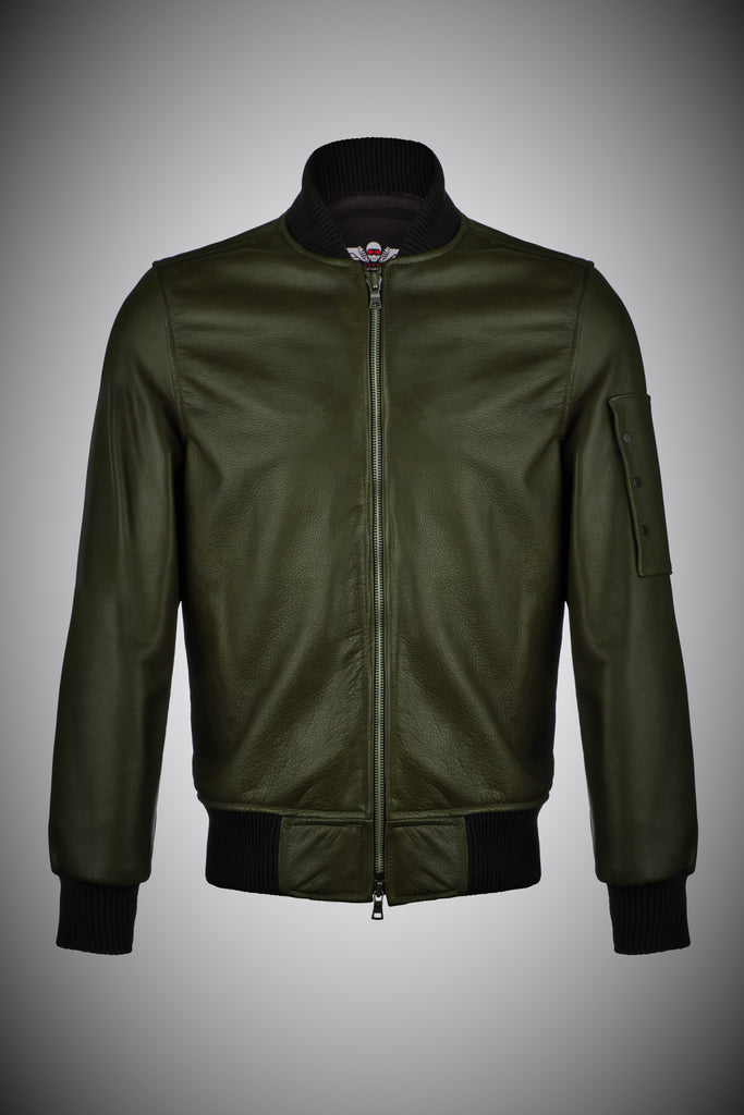 The Full Grain Leather Aviator Jacket